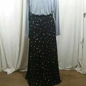 LULAROE Black and White Maxi Skirt Size L